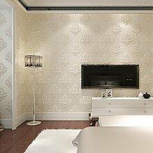 reyqing im europäischen Stil Tapeten, 3D Luxus Geprägt Tapete, Wohnzimmer, Schlafzimmer, TV Hintergrund Tapeten, Ultra-Dick Tapete, Wallpaper only, M grey TJ0203