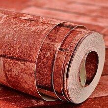 Reyqing Imitation Brick Tapete, Roten Backstein Linien, Antike Scheuern Gericht Shop, Imitation Brick Wallpaper Verdickung Tapeten, Chinesischen Roten Backstein