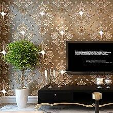 ReYQing Kontinentale Vlies Tapete 3D Tv Hintergrund Wand Teppichboden Sofa Wohnzimmer Warme Schlafzimmer Tv,1803-Hellgrün