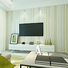 Reyqing Mediterrane Gestreifte Wohnzimmer Wand Tapeten, Hellgrün [T] 68074, Tapeten Nur
