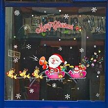 Reyqing Santa Wand Aufkleber Shop Fenster Glas Tür Aufkleber, Weihnachten