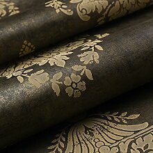 Reyqing  Tapeten, Europäischen Stil Retro Reines Papier, Tapeten, Wohnzimmer, Schlafzimmer Tapete, Das Schwarze Gold Gc21106