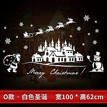 Reyqing Weihnachten Aufkleber, Aufkleber, Schaufenster, Glastüren, Santa Claus, Schneeflocken, Dekorationen, Bäume, O Weiße Weihnachten, Groß