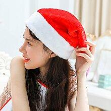 Reyqing Weihnachten Santa Hat Erwachsene Kinder Mütze, Kurz, Grün Plüsch