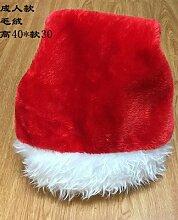 Reyqing Weihnachten Santa Hat Erwachsene Kinder Mütze, Plüsch