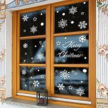 Reyqing Weihnachten Schneeflocke Fensteraufkleber,