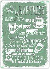 Rezept für Glück V1(grün)–Metall