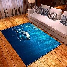 RFEGEF Teppich Wohnzimmer,Moderne Kunst Drucken