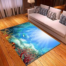 RFEGEF Teppich Wohnzimmer,Moderne Ozean Thema