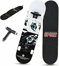 Rff 31-Zoll-Skateboard Profi Anfänger Erwachsene