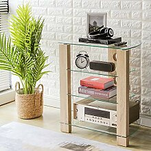 RFIVER HiFi Rack TV Regal Möbel Klarglas Audio