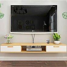 RFJJAL Schwimmender TV-Ständer Wand Medienkonsole