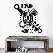 Rfokun Reparatur Auto Service Wandbild Umriss