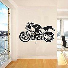 Rfokun Vintage Motorrad Aufkleber Wandkunst