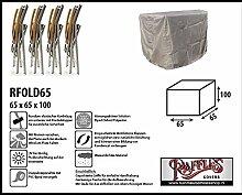 RFOLD65 Schutzhülle für 3 oder 4 Relaxstühle, Hochlehner Schutzhülle für Stapelstühle und Relaxsessel, Abdeckhaube für Gartenstühle