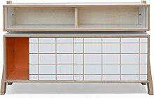 Rform Grand Buffet, Holz, orange, 40x 120x