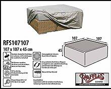 RFS107107 Schutzhülle für Geflecht Lounge Tisch, Rattan Kaffeetisch, Lounge Hocker, Fussteil oder Fussstütze. Plane, abdeckhaube, abdeckung, hülle