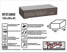 RFS13080 Schutzhülle für Geflecht Lounge Tisch, Rattan Kaffeetisch, Lounge Hocker, Fussteil oder Fussstütze, passt am besten am Tisch von max. 125 x 75 cm. Plane, abdeckhaube, abdeckung, hülle