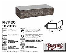 RFS14090 Schutzhülle für Lounge Tisch, Rattan Kaffeetisch, Geflecht Lounge Hocker, Fussteil oder Fussstütze, passt am besten am Tisch von max. 135 x 85 cm. Plane, abdeckhaube, abdeckung, hülle