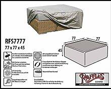 RFS7777 Schutzhülle für Geflecht Lounge Tisch, Rattan Kaffeetisch, Lounge Hocker, Fussteil oder Fussstütze. Plane, abdeckhaube, abdeckung, hülle