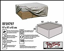 RFS9797 Schutzhülle für Geflecht Lounge Tisch, Rattan Kaffeetisch, Lounge Hocker, Fussteil oder Fussstütze. Plane, abdeckhaube, abdeckung, hülle