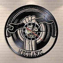 RFTGH Garage Dekorative Schallplatte Wanduhr