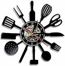 RFTGH Küche Wanduhr Küchenutensilien Werkzeuge