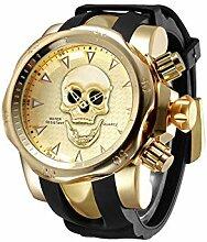 RFVB Herren Uhren Personalisierte Totenkopf Uhren