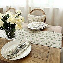 RFVBNM Amerikanische Baumwollstoffe Lepra Tabelle flag idyllische frischen Stempel tv cabinet Tabellen Tabelle flag Bett, 35*200cm Flagge