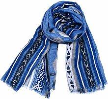 RFVBNM Schal Vintage Baumwolle Leinen Schal