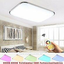 RGB 30W LED Deckenlampe Küchenlampen 6310-30W Silber 3000-6000K volldimmbar mit Farbwechselfunktion