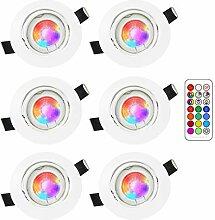 RGB LED deckenstrahler einbauleuchte,3W RGB lampen