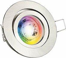 RGB LED Einbaustrahler Set GU10 in