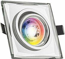 RGB LED Einbaustrahler Set GU10 in Glas/Kristall