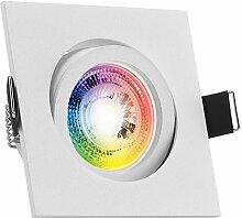 RGB LED Einbaustrahler Set GU10 in weiß matt mit