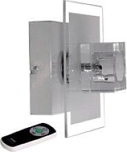 RGB LED Wand Strahler Wohn Zimmer Glas Würfel