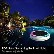 RGB Solarleuchte für Außen Solar Poolleuchten