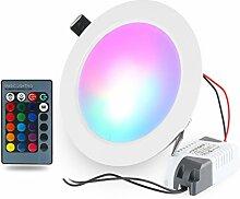 RGBW LED Einbauleuchten 10W Deckenspots Dimmbar