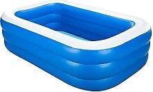 RGRE 210x143x60cm Aufblasbare Pool Großer,