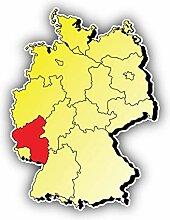 Rheinland Pfalz Germany Map Province -