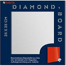 Rheita Glas Magnettafel Tafel Whiteboard 35x35cm