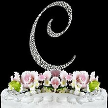 Rhinestone Cake Topper Letter C by other
