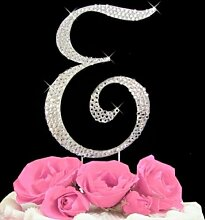 Rhinestone Cake Topper Letter E by other