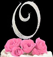 Rhinestone Cake Topper Letter O by other