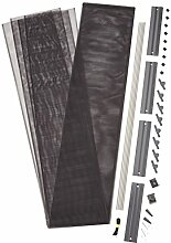 Rhino Screen Insektenschutz Lamellentür Lamellenvorhang Türvorhang, individuell kürzbar, 95 x 220 cm, anthrazit, 38310