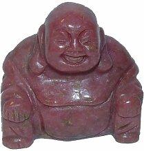 Rhodonit Buddha aus echtem Edelstein Happy Buddha