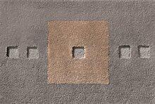 Rhomtuft Badematte CUBUS 90 cm taupe/eiche/ferro