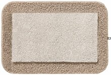 Rhomtuft Badematte CULT 80 x 160 cm stone/walnuss