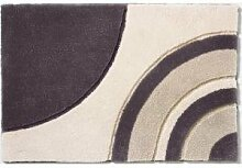 Rhomtuft - Badteppich Swoop - Farbe: taupe, creme