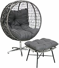Ribelli Design Outdoor Sessel mit Fußhocker